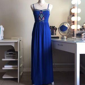 Dresses & Skirts - NWOT Boho style blue Maxi Dress